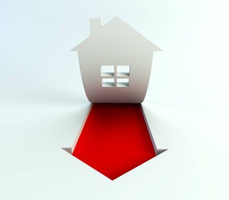 sign of symbolic house photo