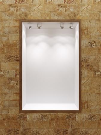 empty boutique showcase, 3d render Stock Photo - 9737959