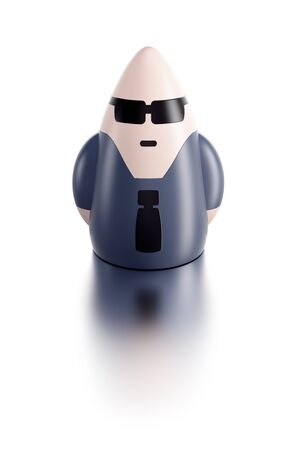 bodyguard: symbolic 3d bodyguard, isolated render Stock Photo
