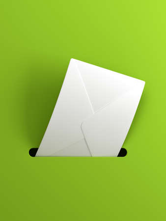outgoing letter, 3d render photo