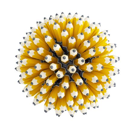 multitude: multitude pencil, isolated 3d render Stock Photo