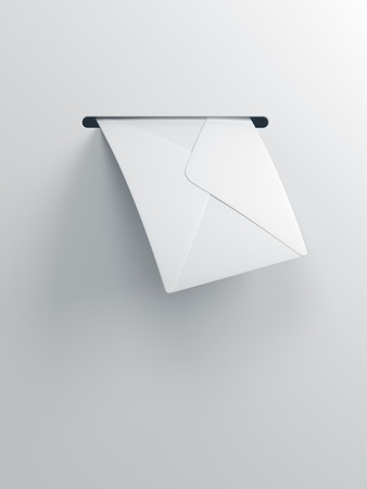 sent: incoming letter, 3d render