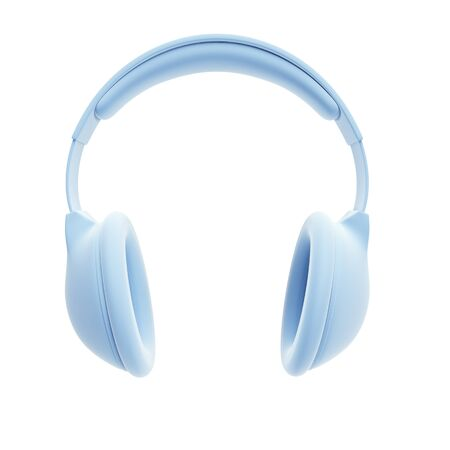 headset symbol: symbolic headphones, isolated 3d rendering
