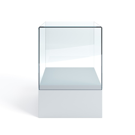 empty display case, isolated 3d render photo