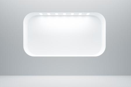 vitrine: empty boutique showcase, 3d render Stock Photo