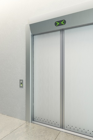 modern elevator with closed doors Stock Photo - 11011465