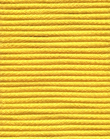yellow on line: closeup photo of yellow coil
