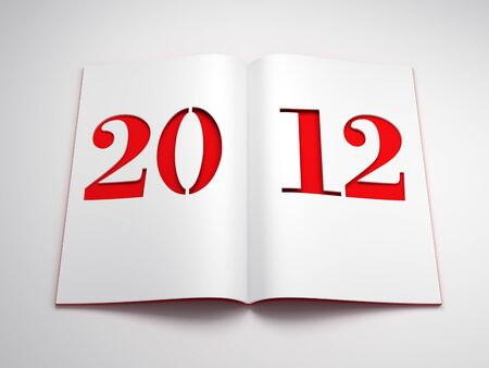 new year 2012, 3d render Stock Photo - 11298823