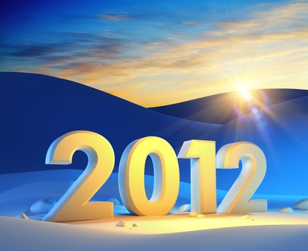 new year 2012, 3d render Stock Photo - 11298834