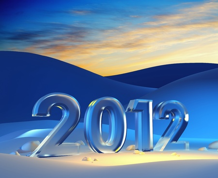 new year 2012, 3d render Stock Photo - 11298835