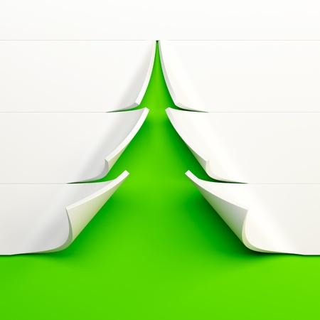 symbolic Christmas tree 3d rendering Stock Photo
