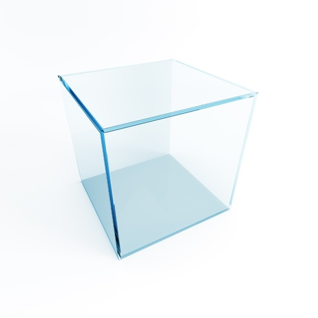 showpiece: empty display box, 3d render