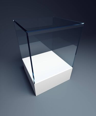 showpiece: empty display case, isolated 3d render Stock Photo