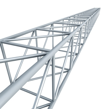 structural: steel girder, isolated 3d render