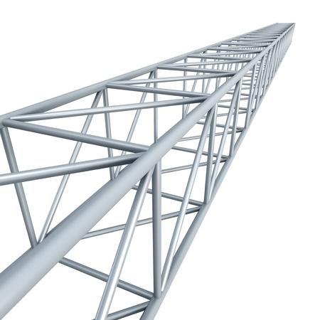 steel beam: steel girder, isolated 3d render