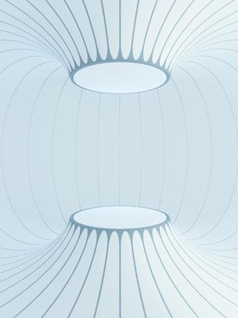 futuristic inter space, 3d render Stock Photo - 12528652