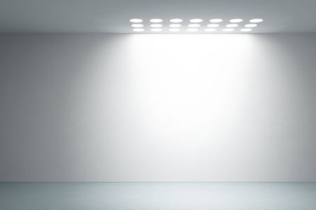 empty white interior, 3d render Stock Photo - 12529359