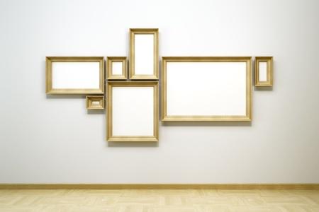 blank frames in the gallery, 3d rendering