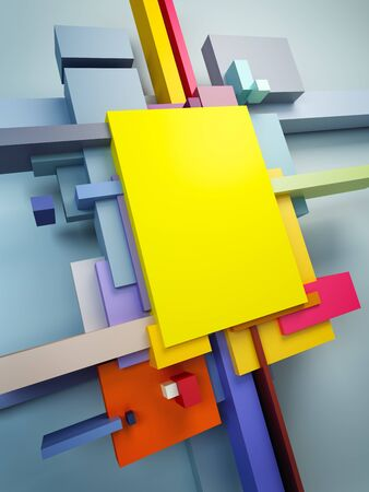 art museum: abstract art composition, 3d render Stock Photo