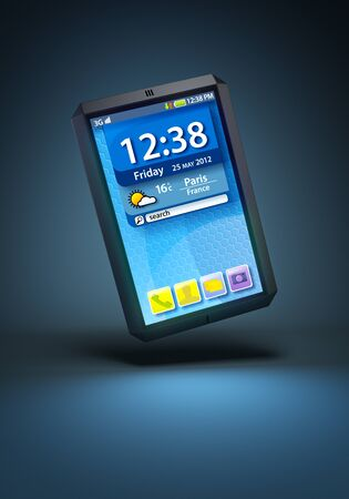modern touchscreen smartphone, 3d render photo