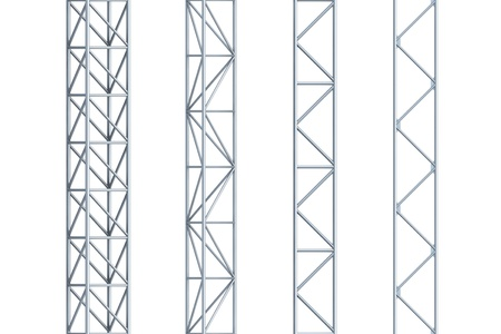 stell: seamless stell girders, isolated 3d render Stock Photo