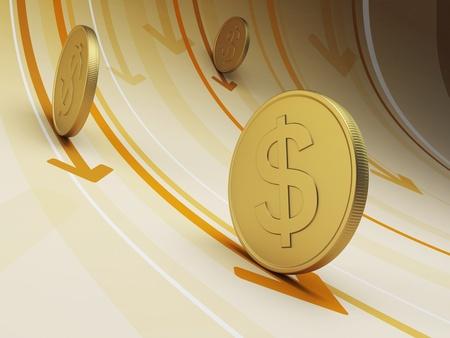 flujo de dinero: flujo de efectivo, concepto de negocio, 3d