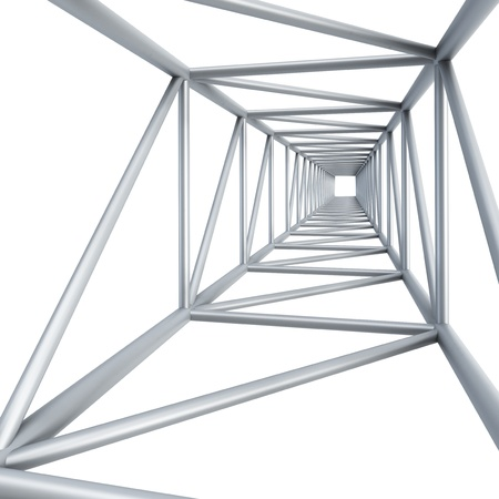 steel girder, isolated 3d render photo