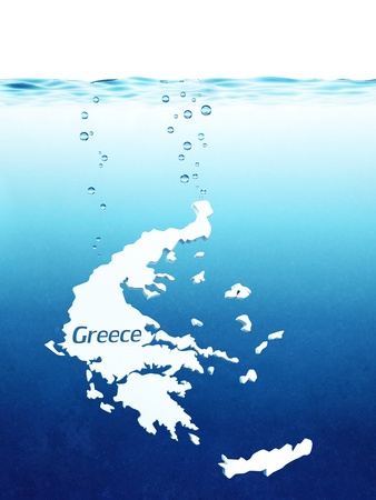 metaphoric: metaphoric bankruptcy of Greece Stock Photo