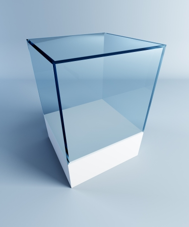 empty display case, 3d render photo
