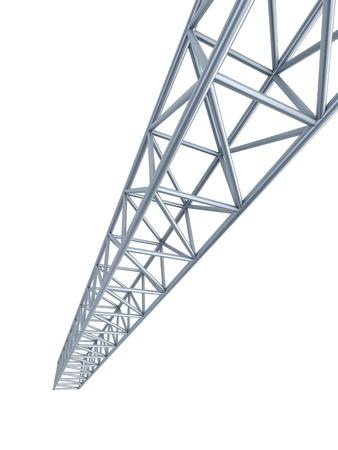 girder: steel girder, isolated 3d render