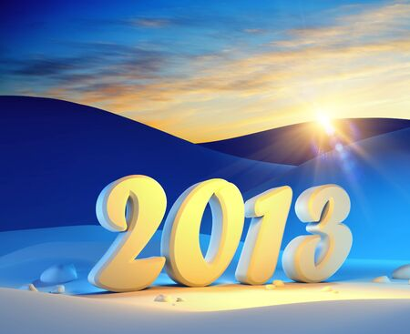 new year 2013, 3d render photo