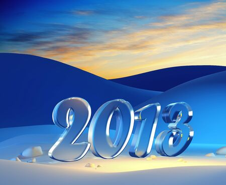 new year 2013, 3d render Stock Photo - 15708696