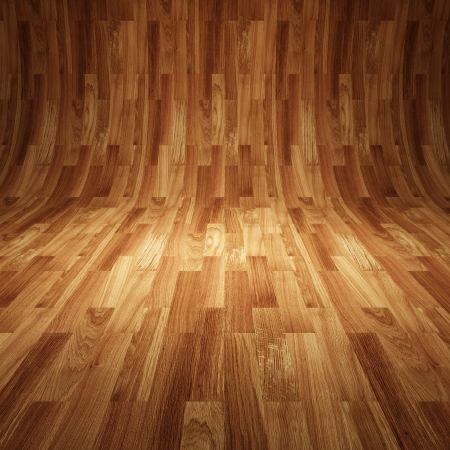 abstract  interior with wooden floor and wall photo
