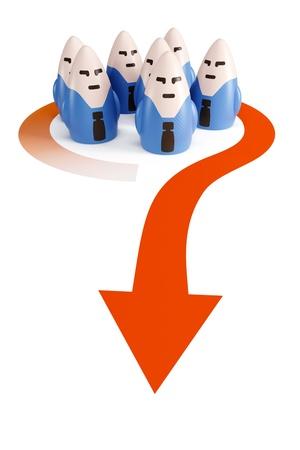 go forward: symbolic business team go forward