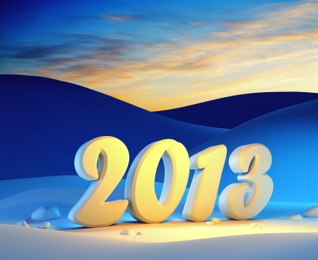 new year 2013, 3d render Stock Photo - 16068976