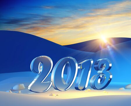 new year 2013, 3d render Stock Photo - 16068994