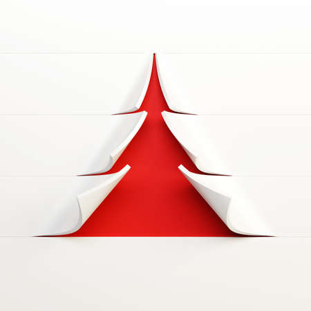 symbolic Christmas tree 3d rendering photo
