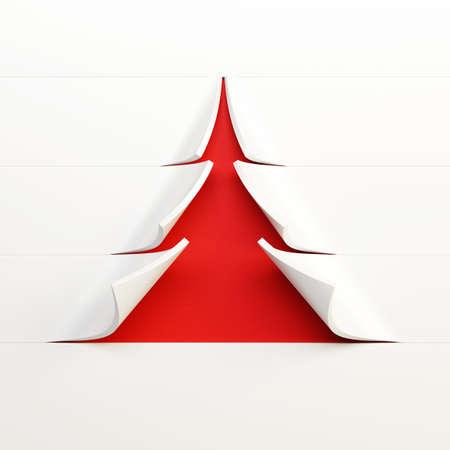 symbolic Christmas tree 3d rendering Stock Photo - 16068917