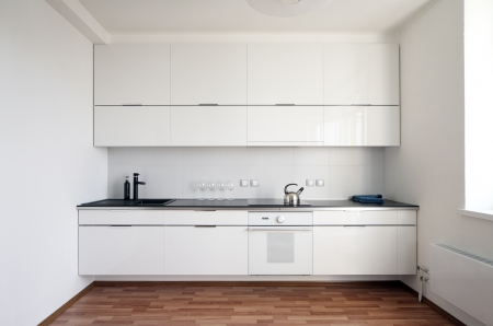 cucina moderna: cucina interni moderni in stile minimalista Archivio Fotografico