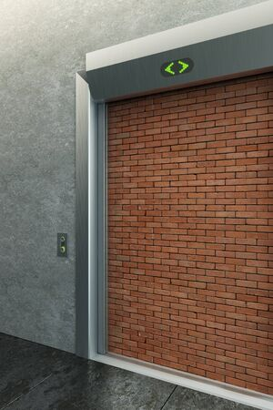 deadlock: modern elevator with deadlock 3d render Stock Photo