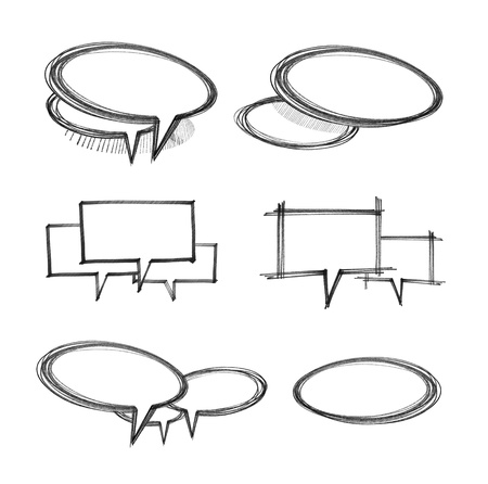 sketch of the speech bubbles set Stock Photo - 16555473