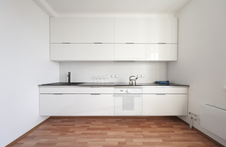 modern kitchen interior in minimalism style Stock Photo
