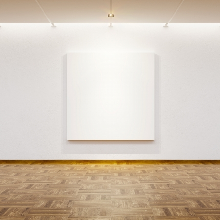 blank picture in the gallery, 3d rendering photo