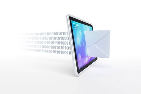 electronic mail: tablet with incoming mail