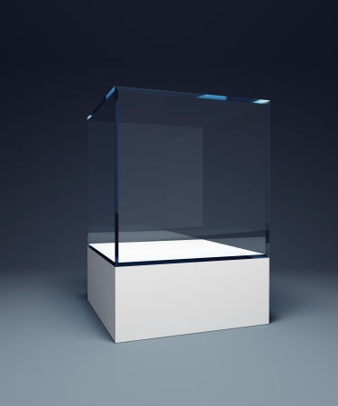 showpiece: empty display case, 3d render Stock Photo