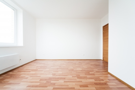 white empty room with door