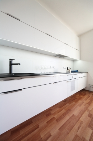modern kitchen interior in minimalism style Stock Photo - 19499578