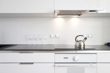 contadores: interior de la cocina moderna de estilo minimalista