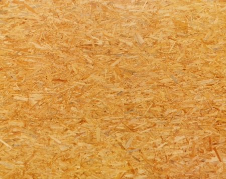 chipboard: high resolution texture of oriented strand board Stock Photo