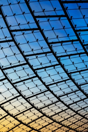 glass building: modern glass facade, abstract composition